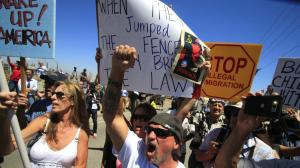 Protestors turning back buses in Murrieta